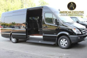 Mercedes Sprinters of American Executive Transportation
