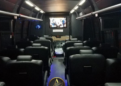 AET MiniBus 28 passenger serving Washington DC inside