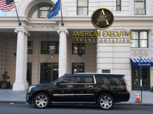 Cadillac Escalade at Willard Hotel Washington DC Worldwide Transportation
