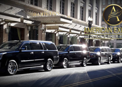 Multiple Cadillac Escalade Hamilton Hotel Washington DC