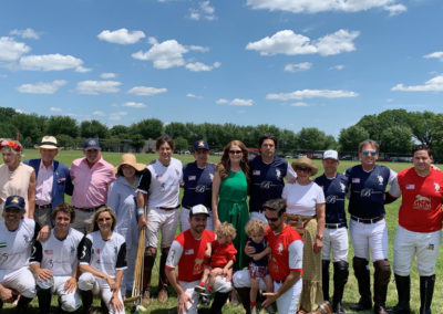 Nacho Figueras with American Executive Manager Meredith and Group