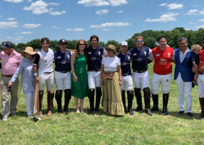 Nacho Figueras with American Executive Manager Meredith and Group more